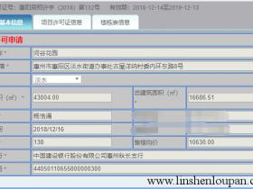 惠阳中洲公园城2栋预售证已拿,备案价如下