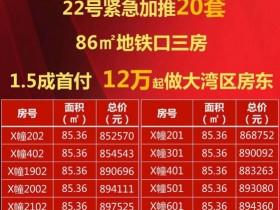 惠阳秋长融创玖樟台楼盘均价10500