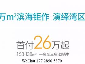 惠州海景房华润小径湾3期首付26万起