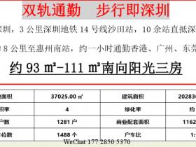 惠阳新力睿园临深1.8公里,有优越的地理位置