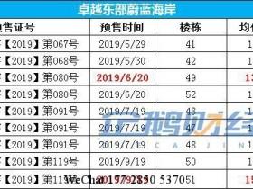 惠阳大亚湾楼盘在2019年年底普遍均价涨了1000+元