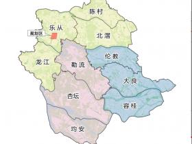 广东佛山区域图之一